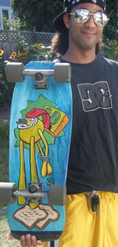 this guys skateboard